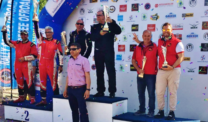 Rteam conquista tutto il podio T2 al Rally Greece Off Road