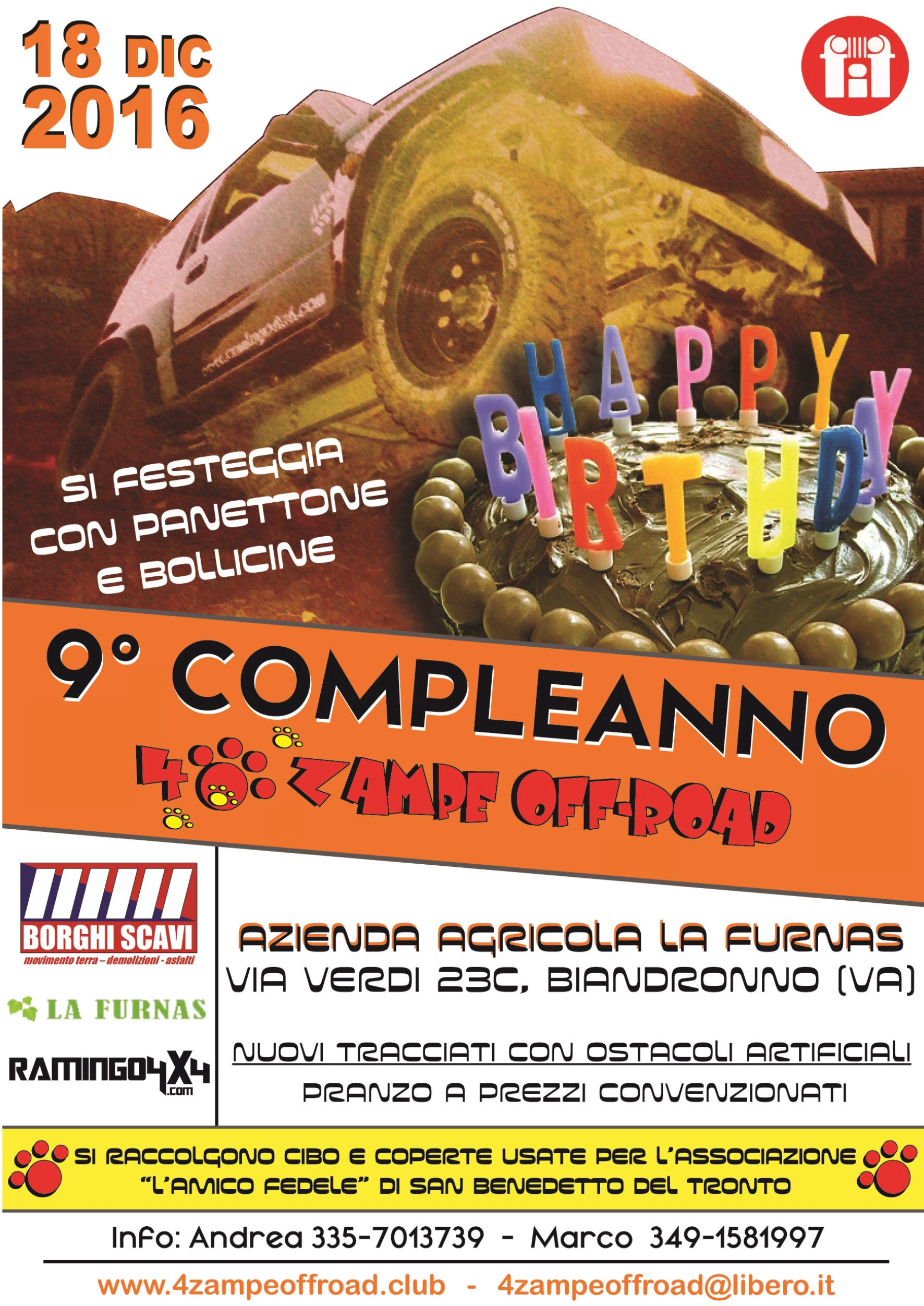 9° Compleanno 4Zampe Off-Road