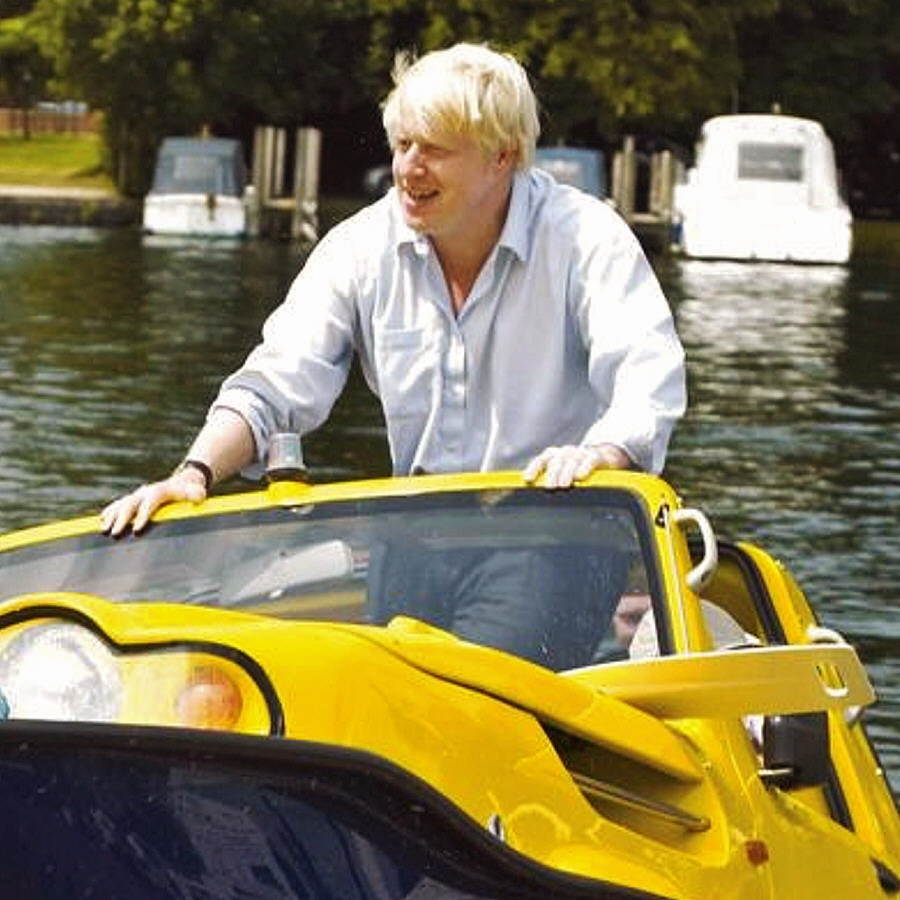 "Boris Johnson ""test driver"" anfibio (2006)"