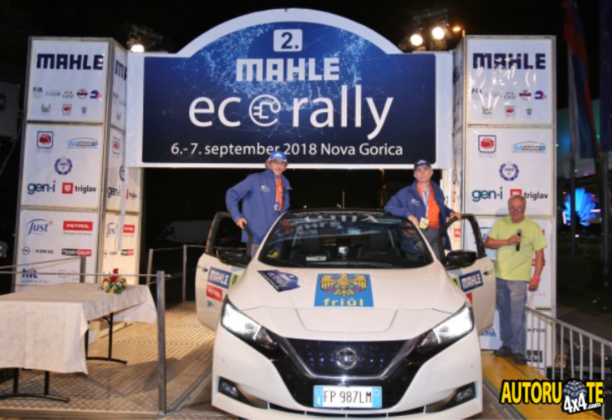 Nissan Leaf al Mahle Eco Rally 2018